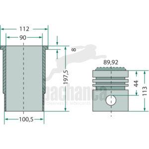 Motortype: KD 110.5, D 208